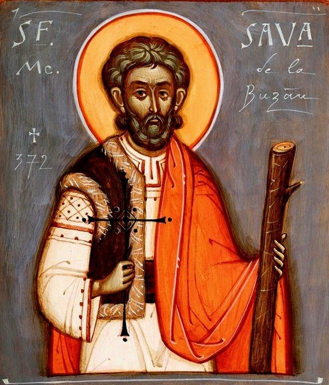 Святой Мученик Савва Готфский. Иконописец Toma Chituc (Румыния).