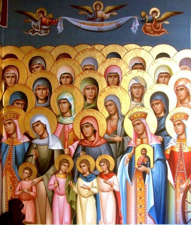 Собор Всех Святых. Современная церковная роспись. Фрагмент.