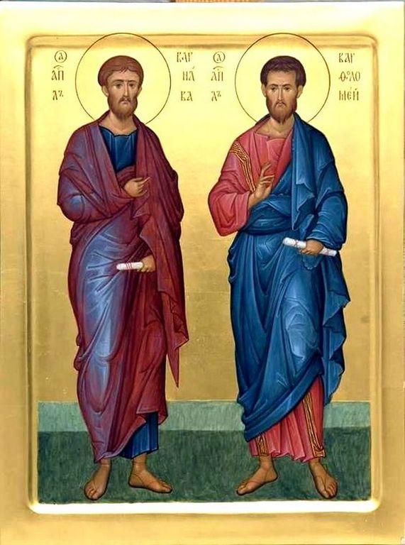 Святые Апостолы Варфоломей и Варнава.
