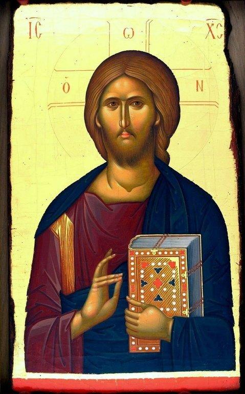 Христос Пантократор. Современная румынская икона.
