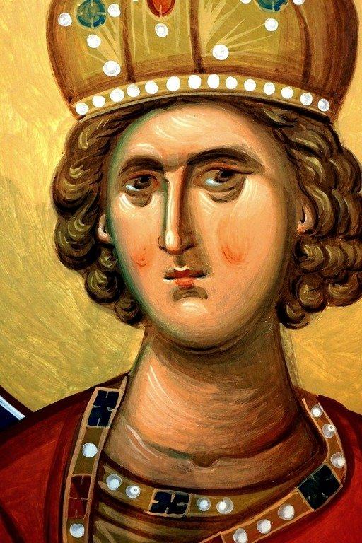 Святой Пророк Царь Соломон. Современная румынская фреска.