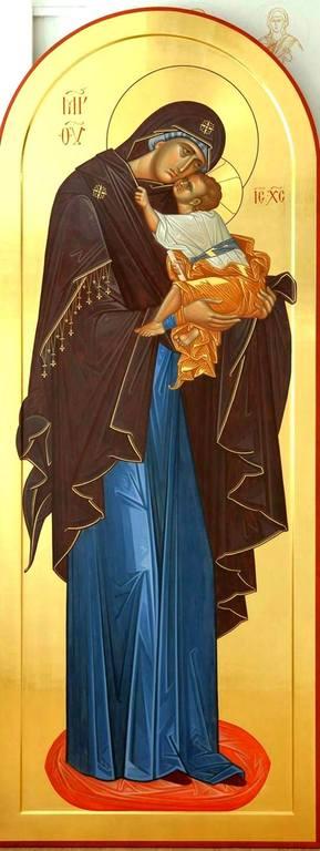 Богоматерь Гликофилуса. Современная икона.