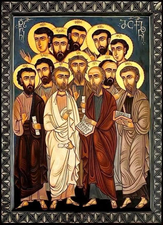 Собор Святых Двенадцати Апостолов. Современная грузинская икона.