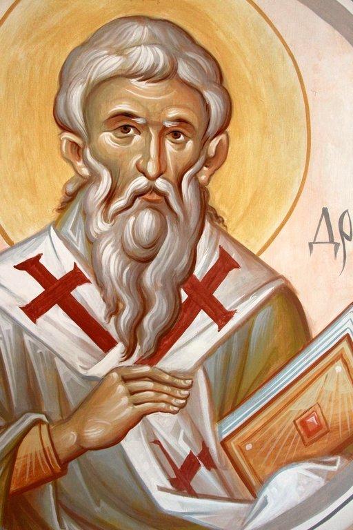 Святитель Андрей, Архиепископ Критский. Современная церковная роспись.