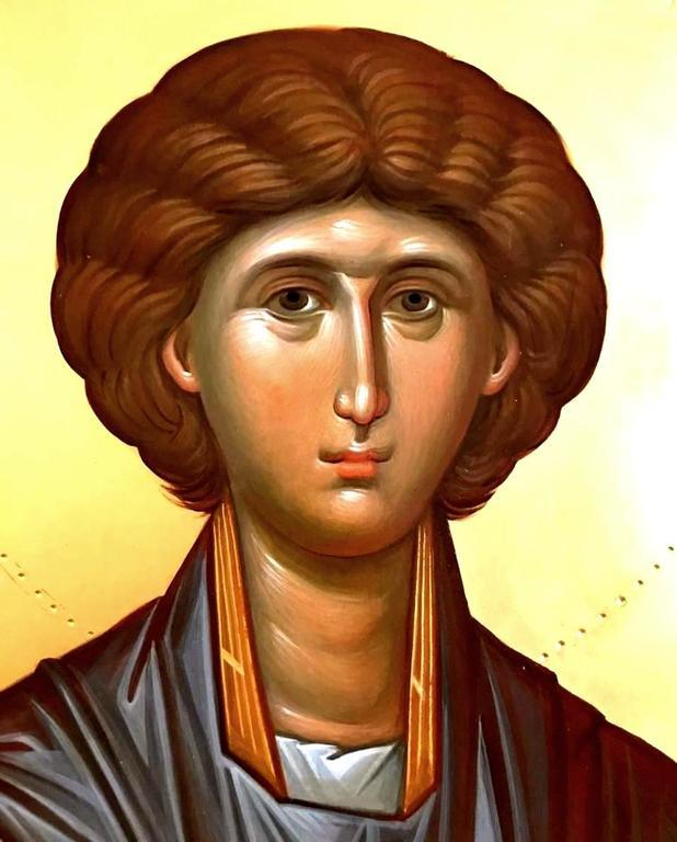 Святой Великомученик и Целитель Пантелеимон. Иконописец Наталия Пискунова.