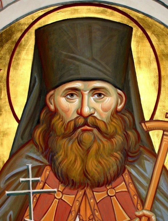 Святой Преподобномученик Варлаам (Коноплёв), игумен Белогорский. Иконописец Наталия Пискунова.