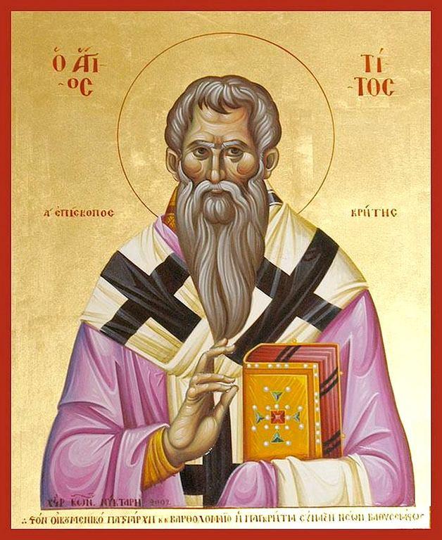 Святой Апостол от Семидесяти Тит, Епископ Критский.