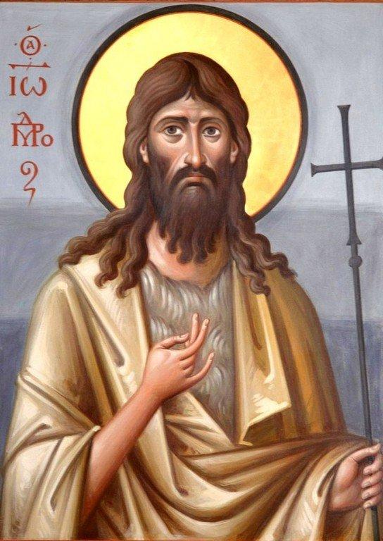 Святой Иоанн Предтеча. Иконописец архимандрит Зинон (Теодор).