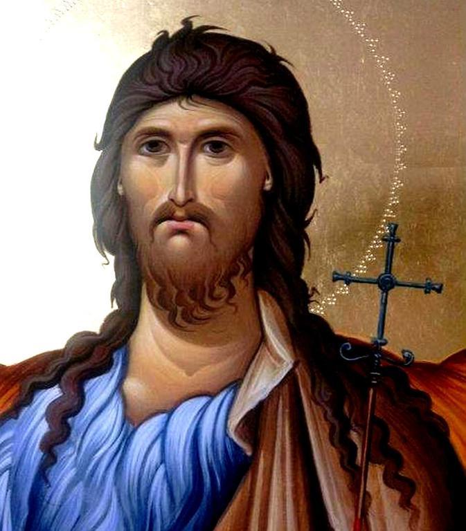 Святой Иоанн Предтеча Ангел пустыни. Иконописец Зураб Модебадзе. Фрагмент иконы.