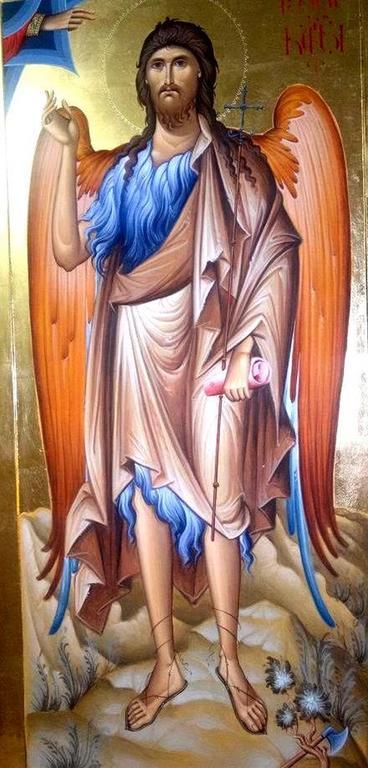 Святой Иоанн Предтеча Ангел пустыни. Иконописец Зураб Модебадзе.