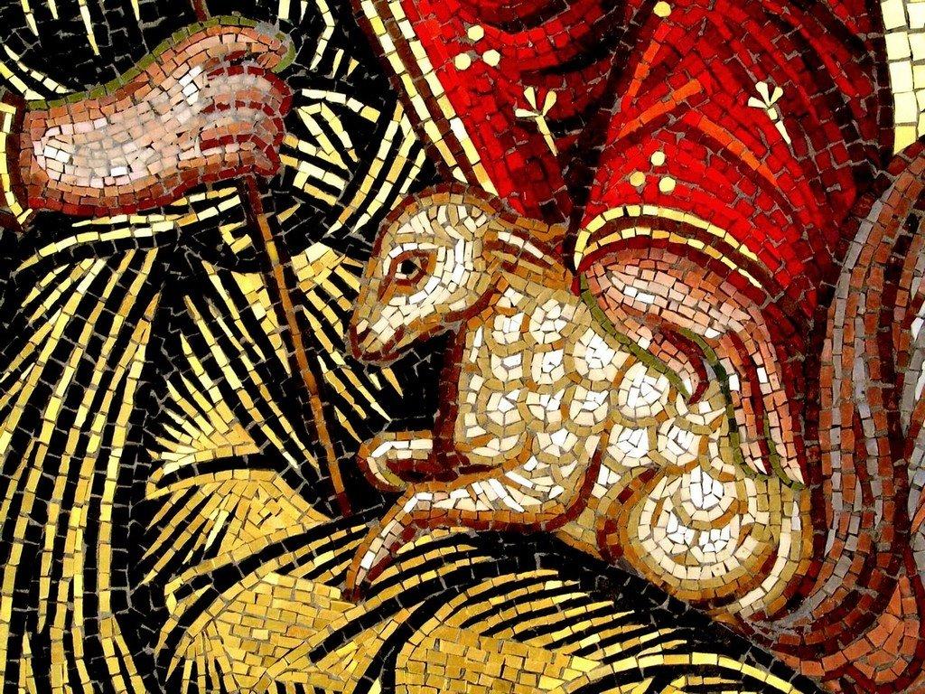 Святой Мученик Мамант Кесарийский. Современная мозаика. Кипр. Фрагмент.