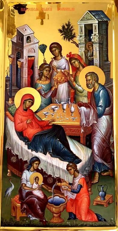 Рождество Пресвятой Богородицы. Современная румынская икона.