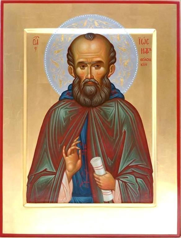 Святой Преподобный Иосиф Волоцкий. Современная икона.