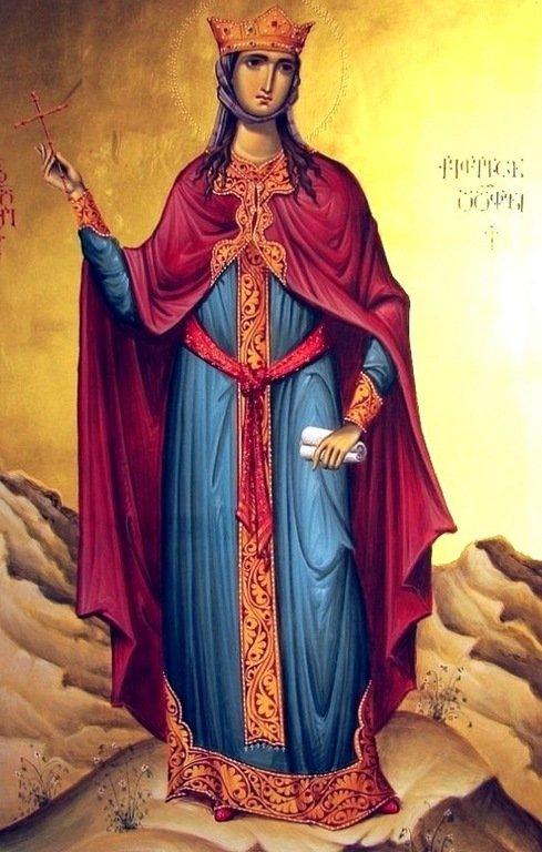 Святая Великомученица Кетеван, Царица Кахетинская. Иконописец Зураб Модебадзе.