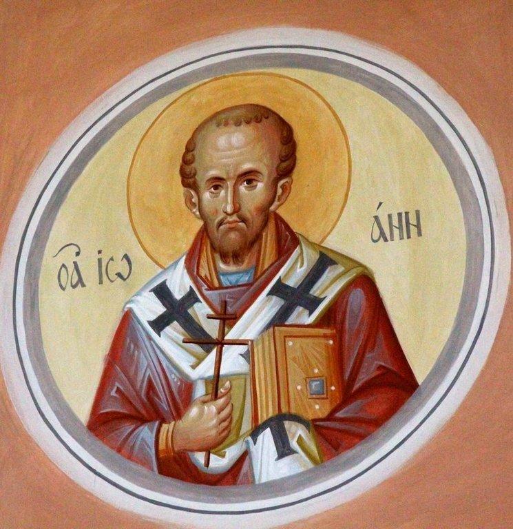Святитель Иоанн Златоуст. Современная церковная роспись.