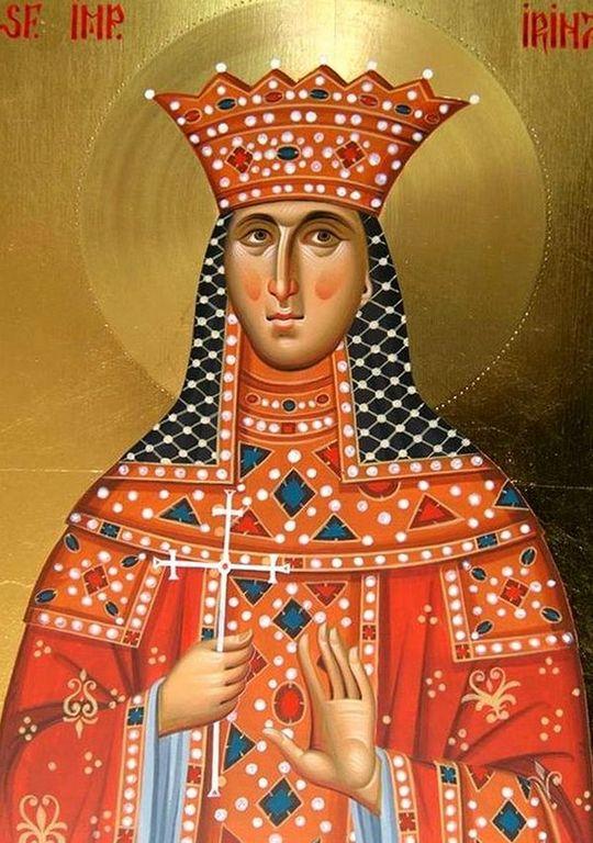 Святая императрица Ирина, при которой был созван Седьмой Вселенский Собор.