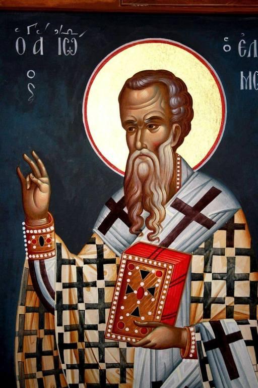Святитель Иоанн Милостивый, Патриарх Александрийский. Иконописец Хрисанфос Караяннакис.