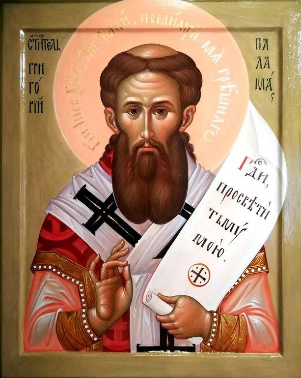 Святитель Григорий Палама, Архиепископ Солунский. Иконописец Наталия Пискунова.