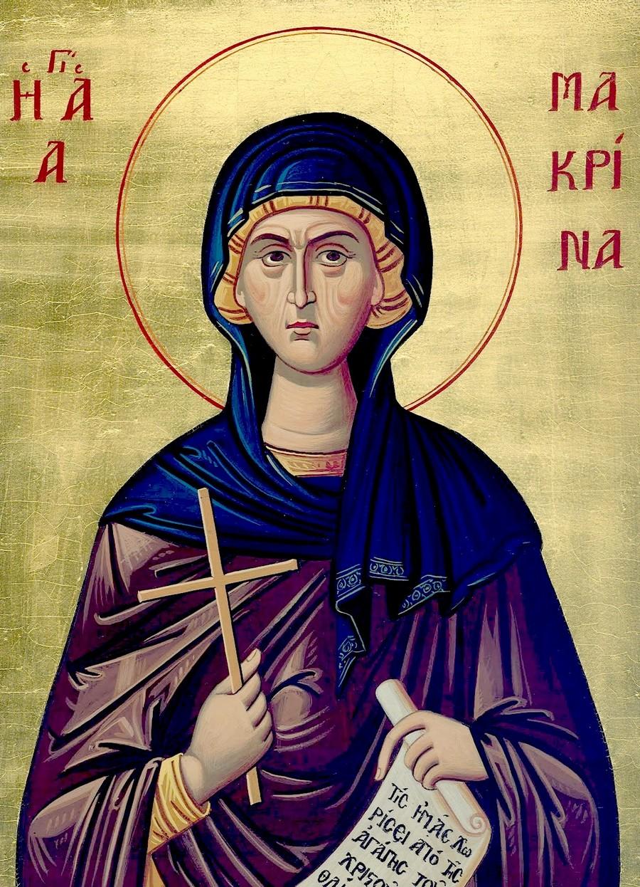 Святая Преподобная Макрина, сестра Святителей Василия Великого и Григория Нисского.