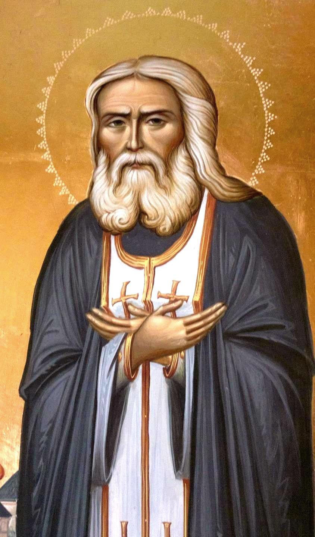 Святой Преподобный Серафим Саровский, Чудотворец. Иконописец Зураб Модебадзе.