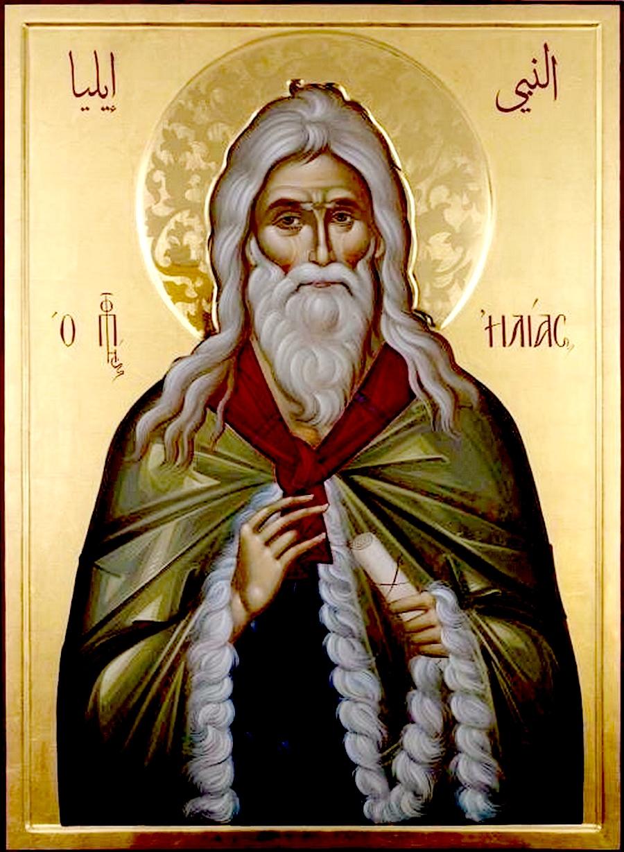 Святой Пророк Божий Илия. Иконописец Ставрос Цакидис (Греция).
