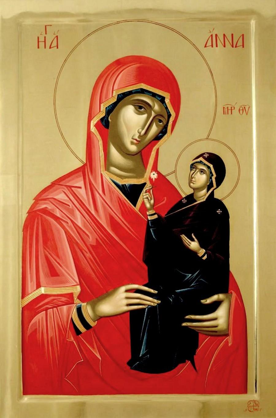 Святая Праведная Анна, мать Пресвятой Богородицы.
