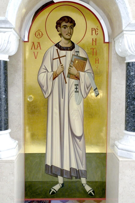 Святой Мученик Архидиакон Лаврентий. Иконописец архимандрит Зинон (Теодор).