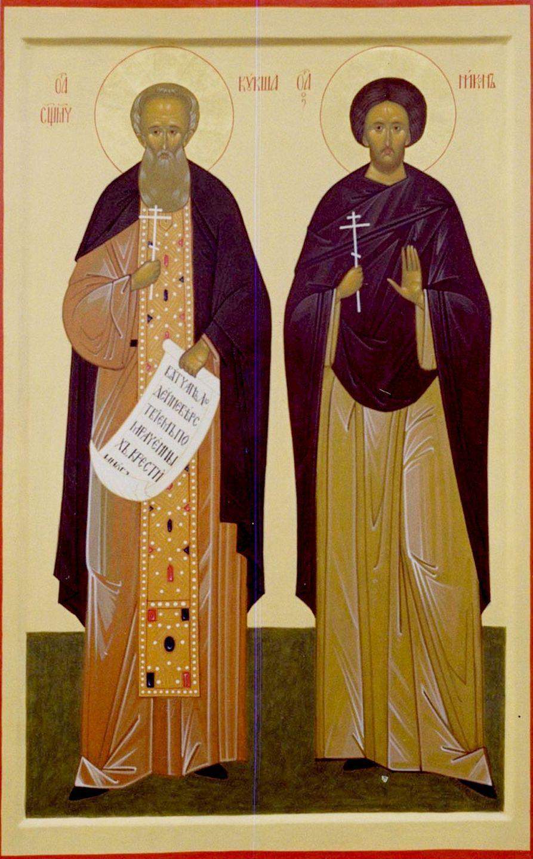 Святые Преподобные Священномученик Кукша и ученик его Мученик Никон Печерские.