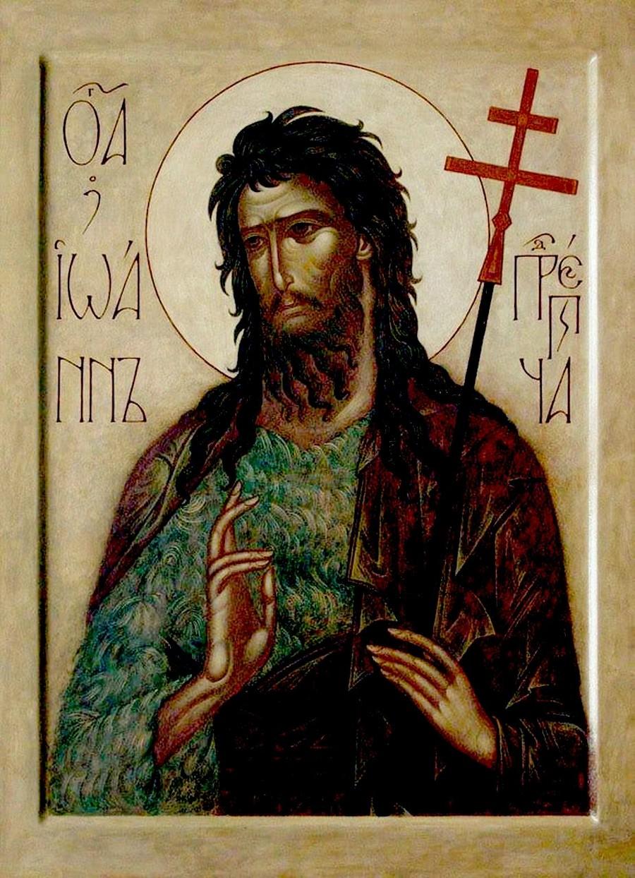 Святой Пророк, Предтеча и Креститель Господень Иоанн. Иконописец Ирина Зарон.