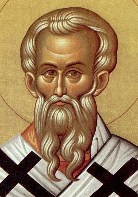 Священномученик Анфим, Епископ Никомидийский. Современная икона. Фрагмент.