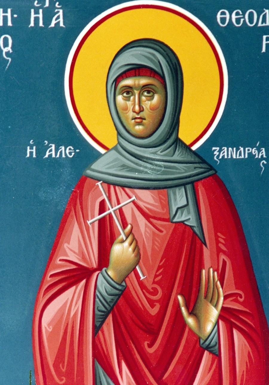 Святая Преподобная Феодора Александрийская.
