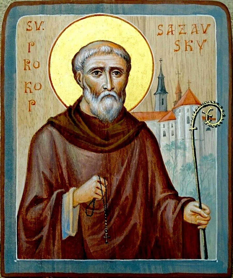 Святой Преподобный Прокопий, игумен Сазавский.