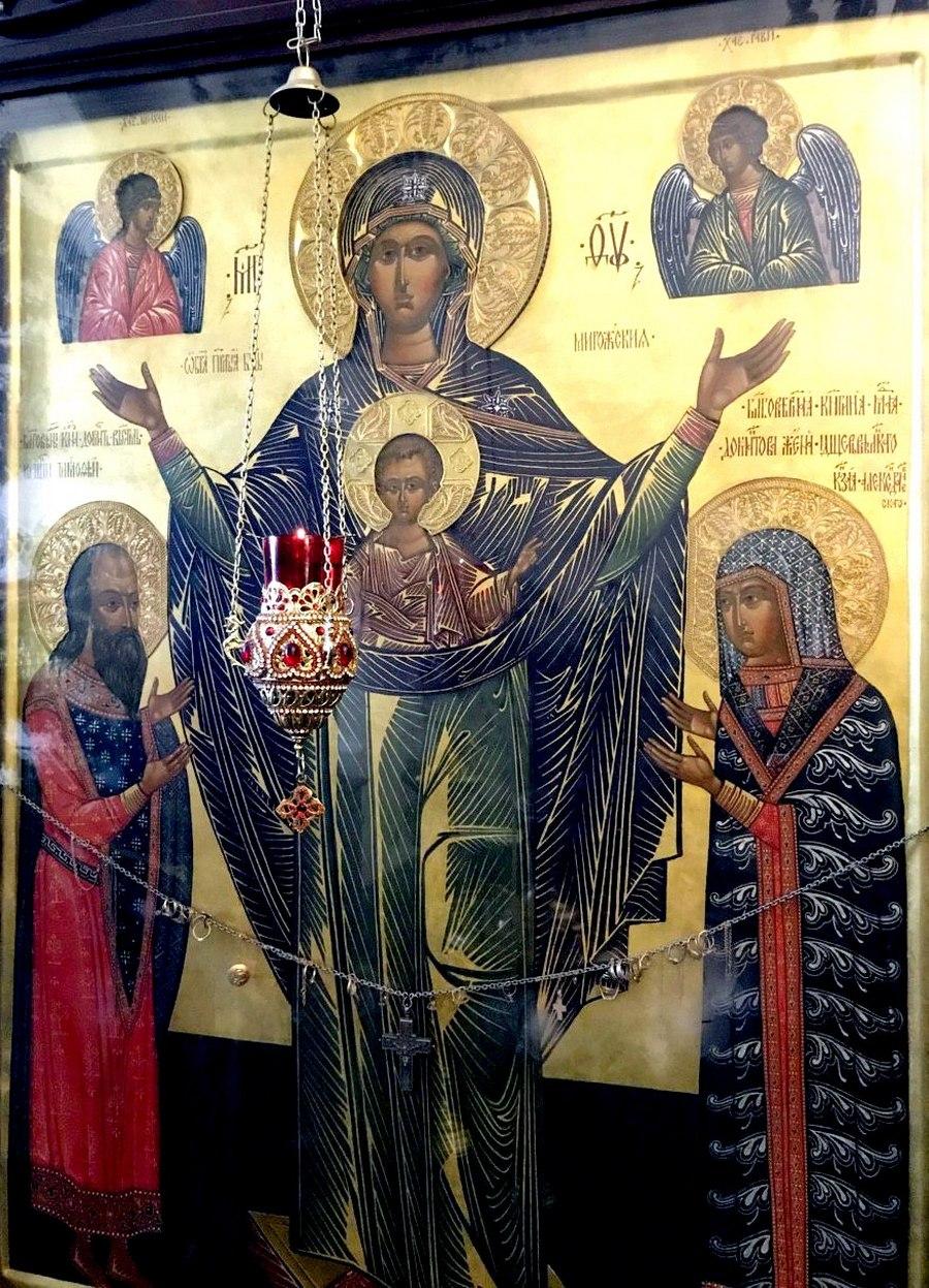 Мирожская икона Божией Матери. Вновь написанный список в Мирожском монастыре.