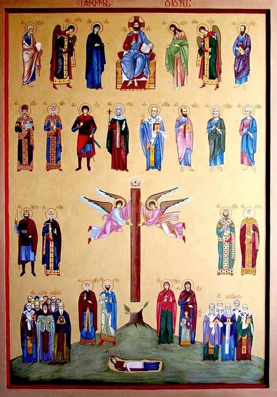 Слава Грузинской Католикосской Церкви. Современная грузинская икона.