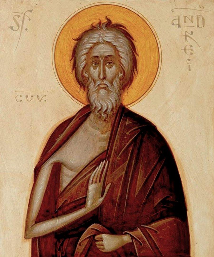 Святой Блаженный Андрей Константинопольский, Христа ради юродивый. Иконописец Gabriel Toma Chituc (Румыния).