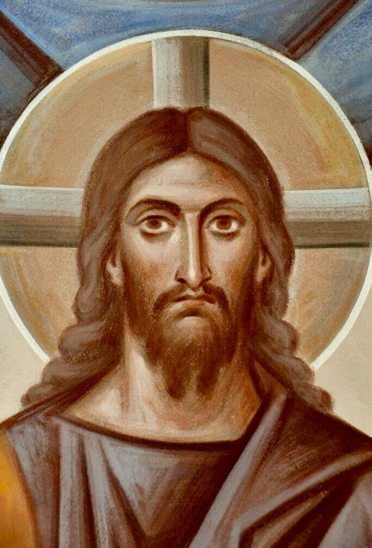 Лик Спасителя. Иконописец архимандрит Зинон (Теодор).