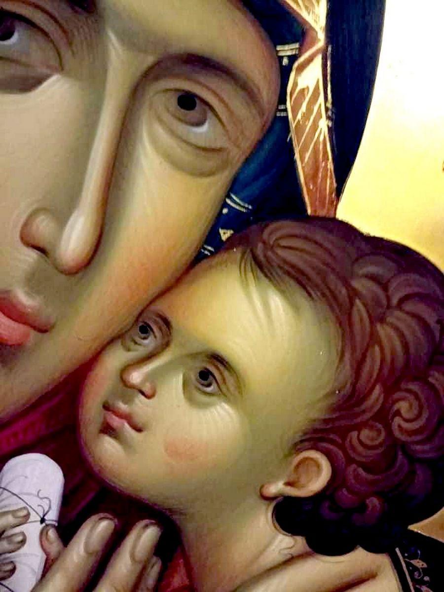 Корсунская икона Божией Матери. Фрагмент.