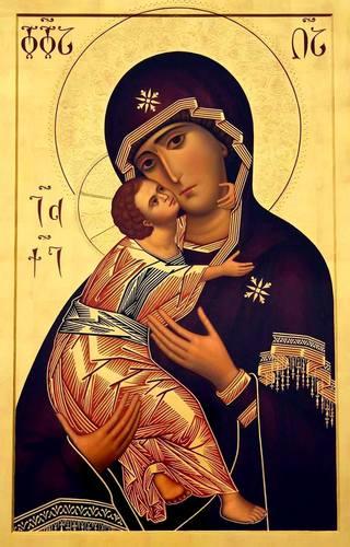 Владимирская икона Божией Матери. Современный грузинский список.