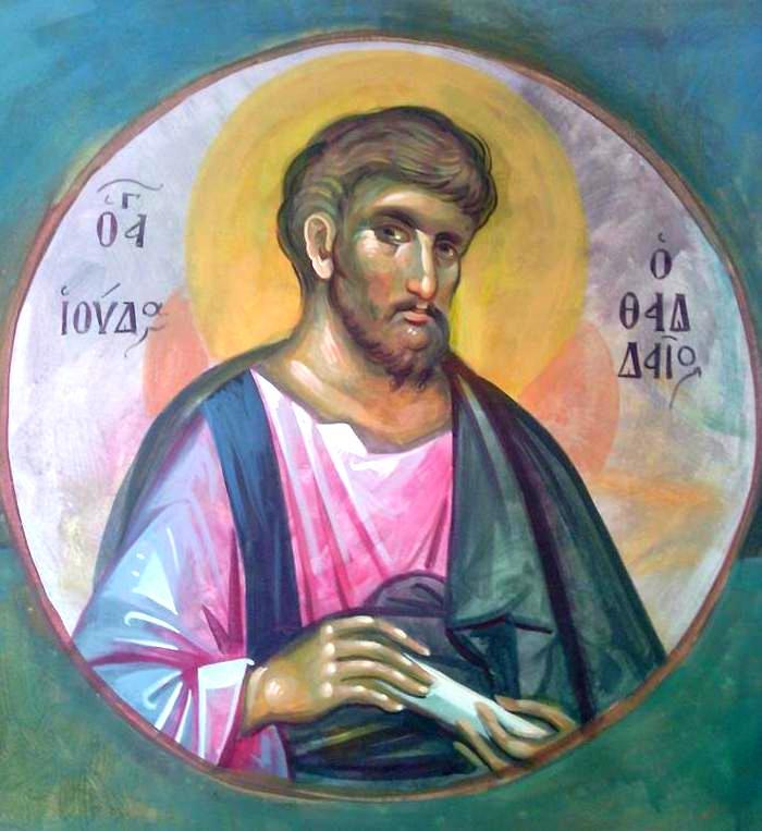 Святой Апостол Иуда Фаддей. Современная греческая церковная роспись.