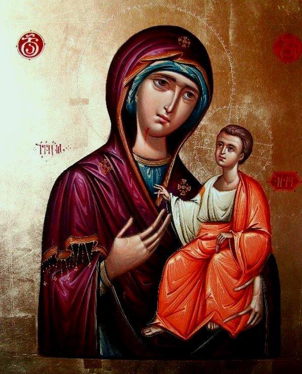 Иверская икона Божией Матери. Иконописец Зураб Модебадзе.