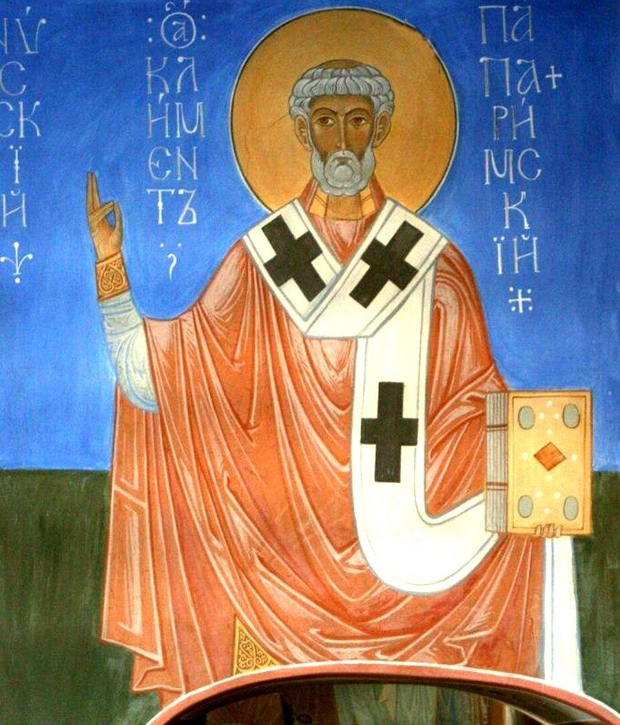 Священномученик Климент, Папа Римский. Иконописец А. В. Алёшин.