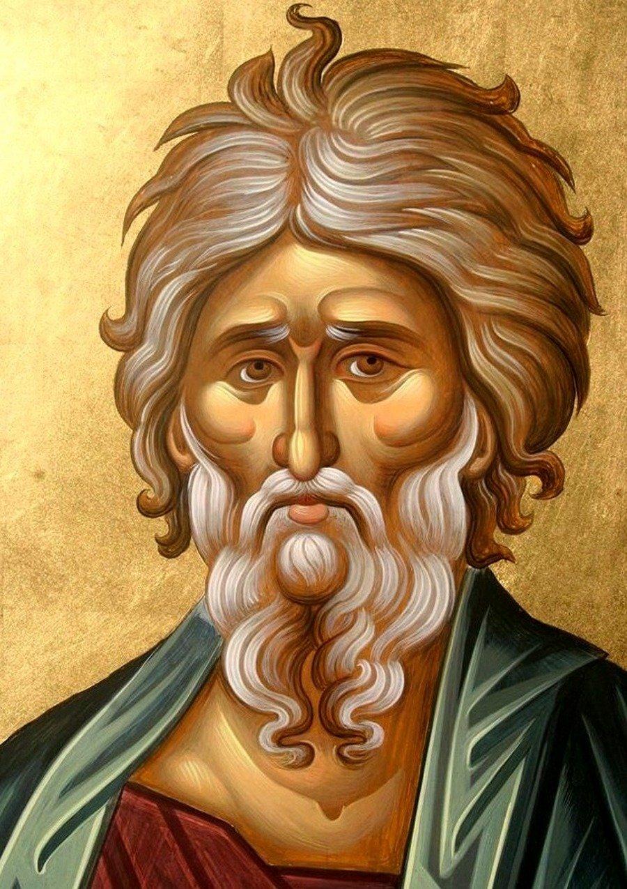 Святой Апостол Андрей Первозванный. Современная икона. Лик.