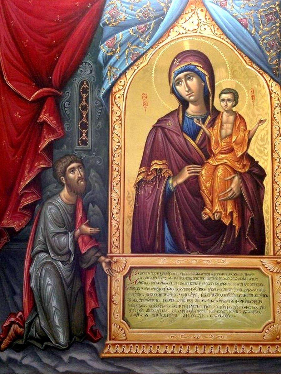 """Икона Божией Матери """"Нечаянная Радость"""". Иконописец Зураб Модебадзе."""