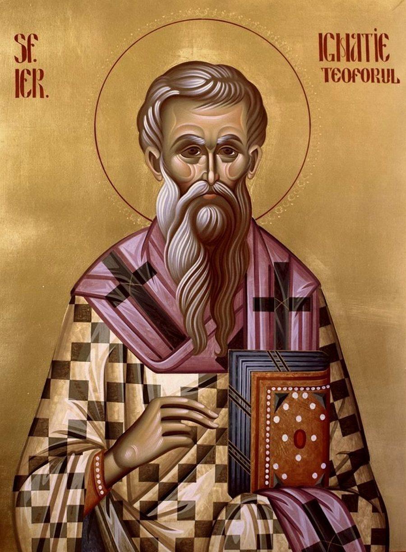 Священномученик Игнатий Богоносец, Епископ Антиохийский. Современная икона.