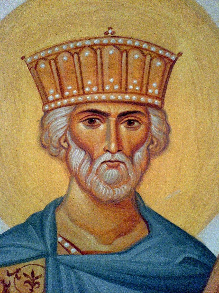 Святой Пророк Царь Давид. Иконописец Самсон Марзоев.