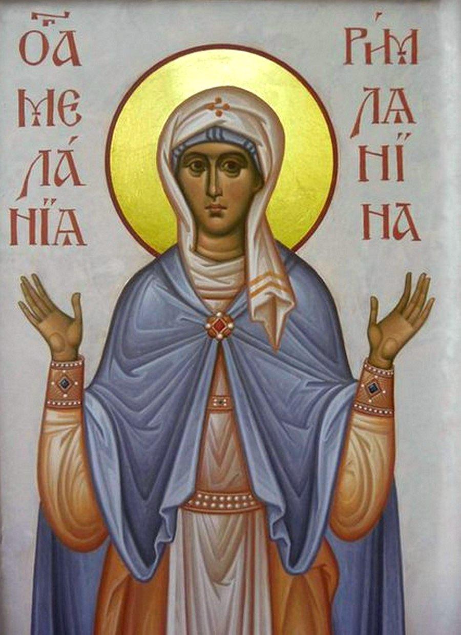Святая Преподобная Мелания Римляныня.