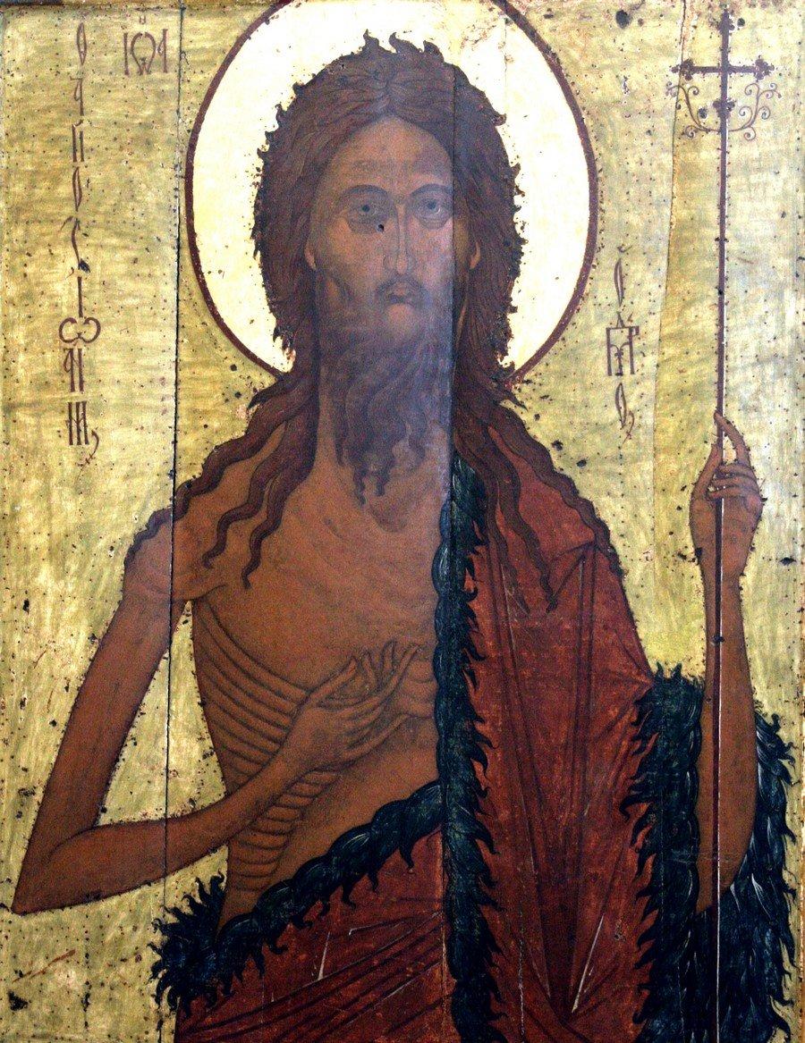 Святой Пророк, Предтеча и Креститель Господень Иоанн. Икона. Ярославль, XVI век.