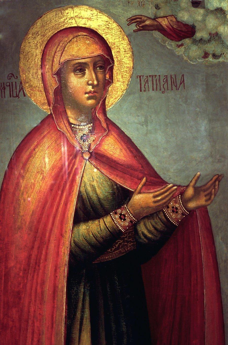 Святая Мученица Татиана Римская. Русская икона.