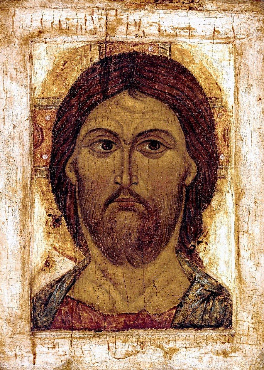 Оплечный образ Спасителя. Русская икона XII века.