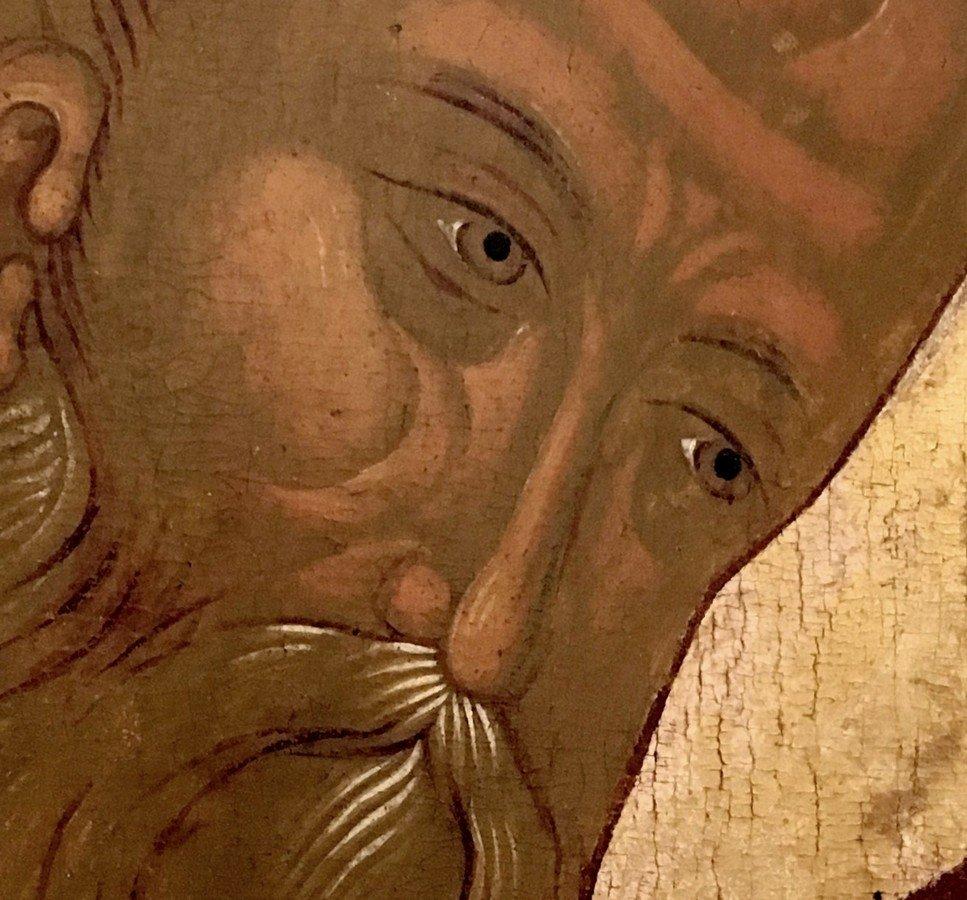 Святитель Афанасий Великий, Архиепископ Александрийский. Икона. Ростов Великий, начало XVI века. Лик.